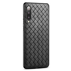 Funda Silicona Goma de Cuero Carcasa para Xiaomi Mi 9 Pro 5G Negro