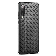Funda Silicona Goma de Cuero Carcasa para Xiaomi Mi 9 Pro Negro