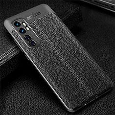 Funda Silicona Goma de Cuero Carcasa para Xiaomi Mi Note 10 Lite Negro