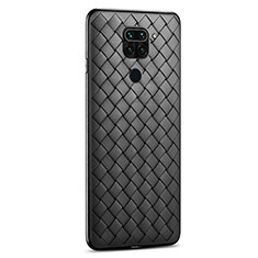 Funda Silicona Goma de Cuero Carcasa para Xiaomi Redmi 10X 4G Negro