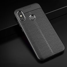 Funda Silicona Goma de Cuero Carcasa para Xiaomi Redmi 6 Pro Negro