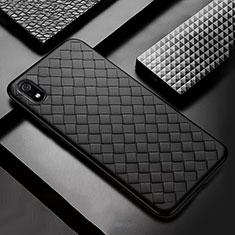 Funda Silicona Goma de Cuero Carcasa para Xiaomi Redmi 7A Negro