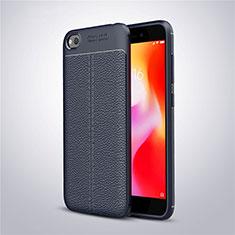Funda Silicona Goma de Cuero Carcasa para Xiaomi Redmi Go Azul