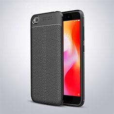 Funda Silicona Goma de Cuero Carcasa para Xiaomi Redmi Go Negro