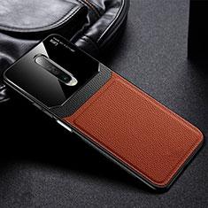 Funda Silicona Goma de Cuero Carcasa para Xiaomi Redmi K30 5G Marron