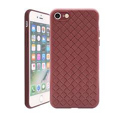 Funda Silicona Goma de Cuero Carcasa S01 para Apple iPhone SE (2020) Marron
