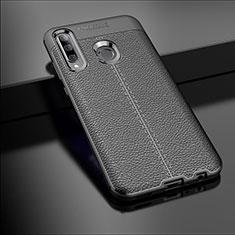 Funda Silicona Goma de Cuero Carcasa S01 para Huawei Honor 20 Lite Negro