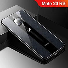 Funda Silicona Goma de Cuero Carcasa S01 para Huawei Mate 20 RS Negro