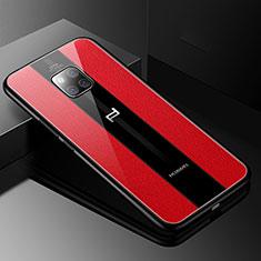 Funda Silicona Goma de Cuero Carcasa S01 para Huawei Mate 20 RS Rojo
