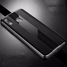 Funda Silicona Goma de Cuero Carcasa S01 para Huawei P Smart+ Plus Negro