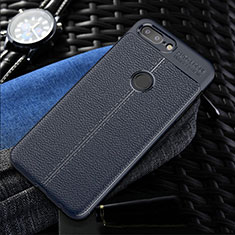 Funda Silicona Goma de Cuero Carcasa S01 para OnePlus 5T A5010 Azul