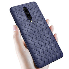 Funda Silicona Goma de Cuero Carcasa S01 para OnePlus 7 Pro Azul