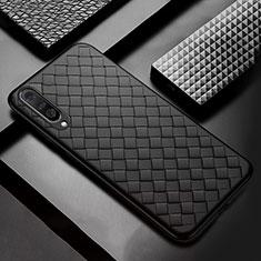 Funda Silicona Goma de Cuero Carcasa S01 para Samsung Galaxy A30S Negro