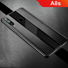 Funda Silicona Goma de Cuero Carcasa S01 para Samsung Galaxy A8s SM-G8870 Negro