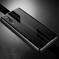 Funda Silicona Goma de Cuero Carcasa S01 para Xiaomi Mi 9 Pro Negro