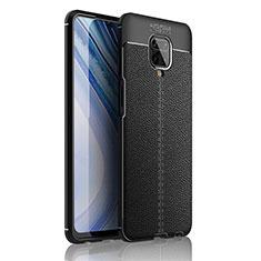 Funda Silicona Goma de Cuero Carcasa S01 para Xiaomi Redmi Note 9 Pro Max Negro