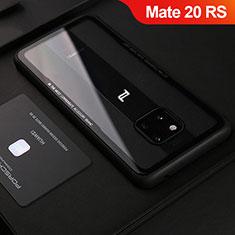 Funda Silicona Goma de Cuero Carcasa S02 para Huawei Mate 20 RS Negro
