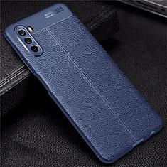 Funda Silicona Goma de Cuero Carcasa S02 para Huawei Mate 40 Lite 5G Azul