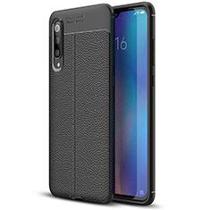 Funda Silicona Goma de Cuero Carcasa S02 para Xiaomi Mi 9 Pro Negro