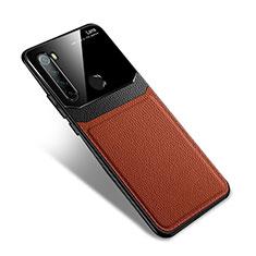 Funda Silicona Goma de Cuero Carcasa S02 para Xiaomi Redmi Note 8 Marron