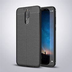 Funda Silicona Goma de Cuero Carcasa S03 para Huawei Mate 10 Lite Negro