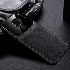 Funda Silicona Goma de Cuero Carcasa S03 para Huawei Mate 30 Lite Negro