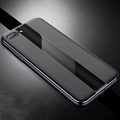 Funda Silicona Goma de Cuero Carcasa S04 para Apple iPhone 8 Plus Negro