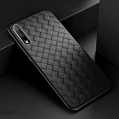 Funda Silicona Goma de Cuero Carcasa S04 para Huawei Honor 9X Negro