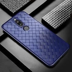 Funda Silicona Goma de Cuero Carcasa S04 para Huawei Mate 10 Lite Azul