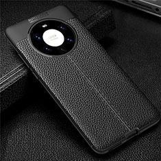 Funda Silicona Goma de Cuero Carcasa U01 para Huawei Mate 40 Pro+ Plus Negro