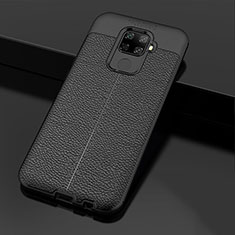 Funda Silicona Goma de Cuero Carcasa Z01 para Huawei Mate 30 Lite Negro