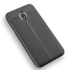 Funda Silicona Goma de Cuero K01 para Samsung Galaxy Amp Prime 3 Negro