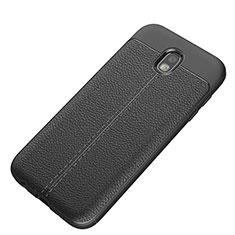 Funda Silicona Goma de Cuero K01 para Samsung Galaxy J5 (2017) SM-J750F Negro