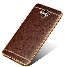 Funda Silicona Goma de Cuero para Huawei Mate 10 Marron