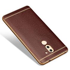 Funda Silicona Goma de Cuero para Huawei Mate 9 Lite Marron