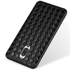 Funda Silicona Goma de Cuero para Huawei Mate 9 Pro Negro
