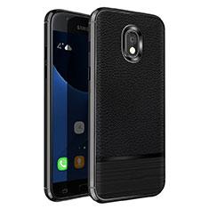 Funda Silicona Goma de Cuero para Samsung Galaxy J5 Pro (2017) J530Y Negro