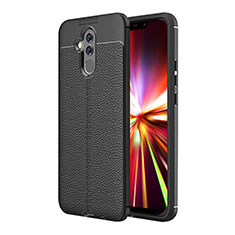 Funda Silicona Goma de Cuero Q01 para Huawei Maimang 7 Negro