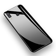 Funda Silicona Goma Espejo M01 para Samsung Galaxy A8 Star Negro