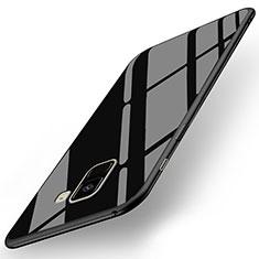 Funda Silicona Goma Espejo para Samsung Galaxy A8+ A8 Plus (2018) Duos A730F Negro