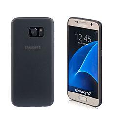 Funda Silicona Goma Mate para Samsung Galaxy S7 G930F G930FD Negro