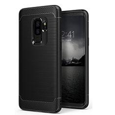 Funda Silicona Goma Mate para Samsung Galaxy S9 Plus Negro