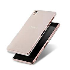Funda Silicona Goma Mate para Sony Xperia Z3 Blanco