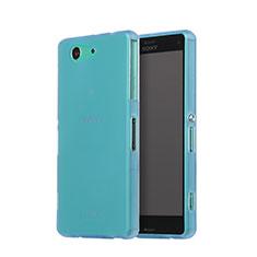 Funda Silicona Goma Mate para Sony Xperia Z3 Compact Azul Cielo