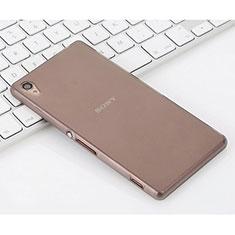 Funda Silicona Goma Mate para Sony Xperia Z3 Gris