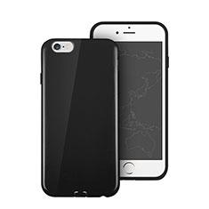 Funda Silicona Goma para Apple iPhone 6 Negro