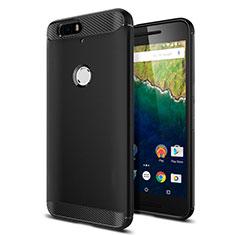 Funda Silicona Goma para Google Nexus 6P Negro