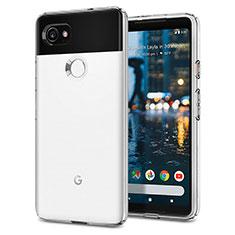 Funda Silicona Goma para Google Pixel 2 XL Blanco