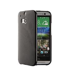 Funda Silicona Goma para HTC One M8 Negro