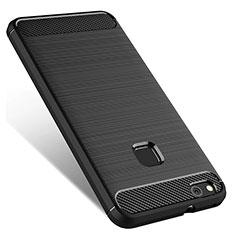 Funda Silicona Goma para Huawei P10 Lite Negro